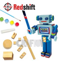 Color Your Wooden Robot #79775