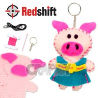 Sewing Animal Keyring - Piggy #79855