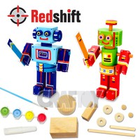 Color your Wooden Mini Robot #79900