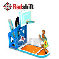 Color your Wooden Pen Holder - Basketball #79933