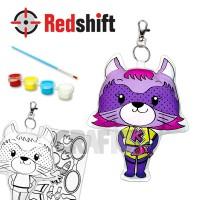 Color your Animal Pal Keyring - Super Kitty #79949