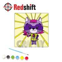 Color your Animal Pal Canvas Board - Super Kitty #79957