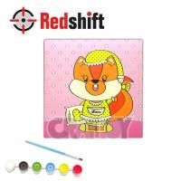 Color your Animal Pal Canvas Board - Sleepy Squirrel #79958