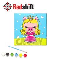 Color your Animal Pal Canvas Board - Princess Pig #79959