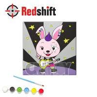Color your Animal Pal Canvas Board - Rockey Bunny #79960