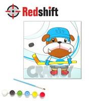 Color your Animal Pal Canvas Board - Bulldog #79963