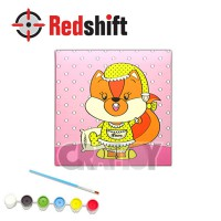 Color your Framed Canvas Anim-Pal - Sleepy Squirrel #79966