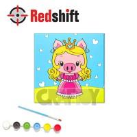 Color your Framed Canvas Anim-Pal - Princess Pig #79967