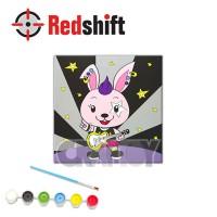 Color your Framed Canvas Anim-Pal - Rockey Bunny #79968