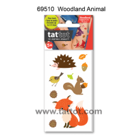 Mini Kid Temporary Tattoo -  Woodland Animal  #69510