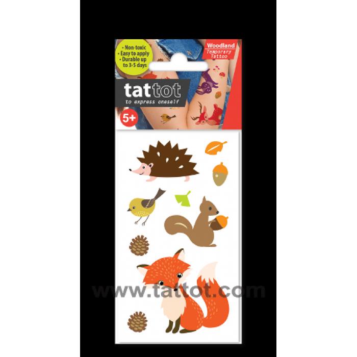 Mini Kid Temporary Tattoo - Woodland Animal #69510
