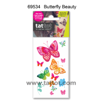 Mini Adult Color Temporary Tattoo - Butterfly Beauty  #69534