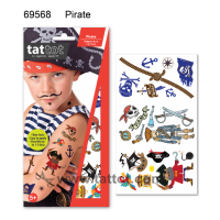 Kid Temporary Tattoo -  Pirate  #69568