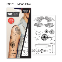 Adult Temporary Tattoo -  Mono Chic #69576