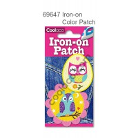 Mini Iron-on PU color Patch #69647