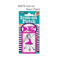 Mini Iron-on Canvas Neon Patch #69679