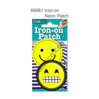 Mini Iron-on Canvas Neon Patch #69681