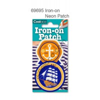 Mini Iron-on Canvas Neon Patch #69695