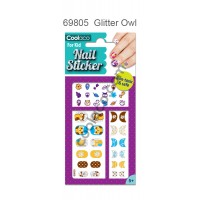Glitter Nail Sticker for kid - Owl #69805