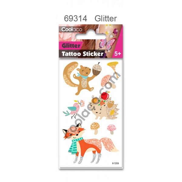 Mini Kid Temporary Tattoo - Glitter #69314