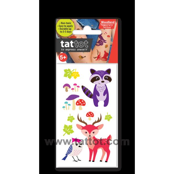 Mini Kid Temporary Tattoo - Woodland Animal #69511